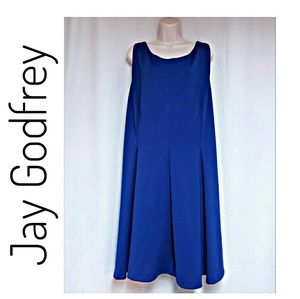 Jay Godfrey Royal Blue Fit & Flare Dress Size 22W